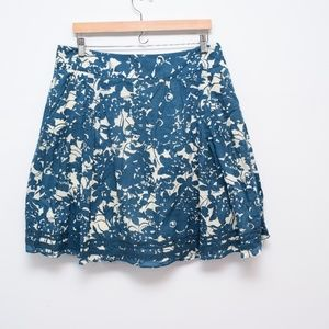 J Crew A Line Floral Skirt Lined Pockets